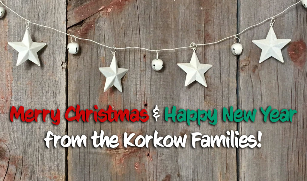 Merry Christmas & Happy New Year from the Korkow Families!